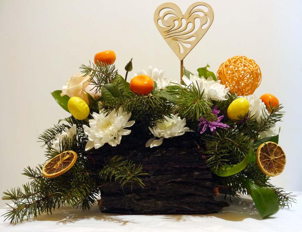 Новогодние композиции из цветов в Новошахтинске
