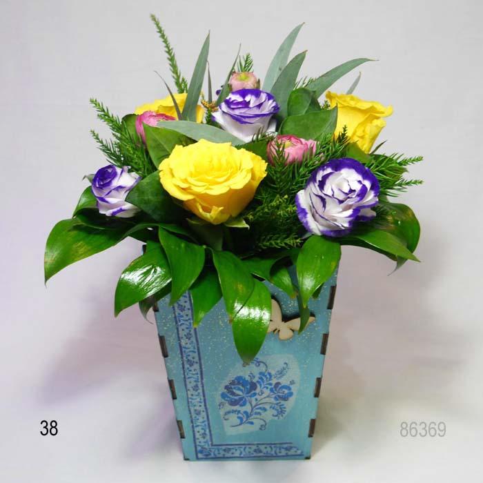 Недорогая композиция из цветов